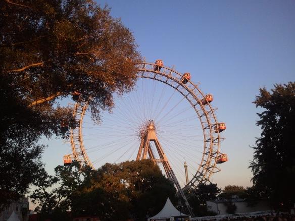 Blick nach hinten - Riesenrad