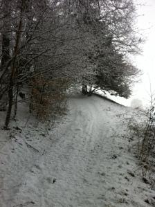 Verschneiter Stamperlweg