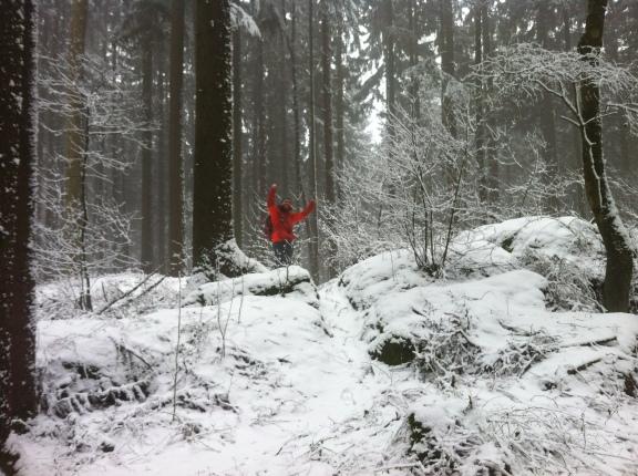 Martin am Gipfel des Dürnbergs
