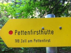 Wegweiser Pettenfirsthütte