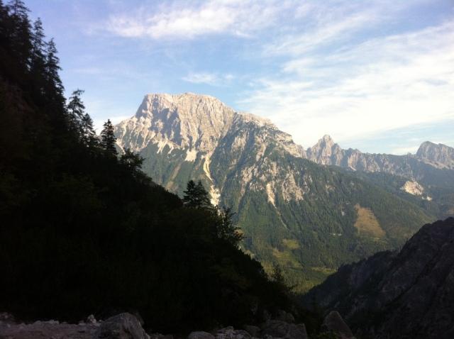 Aufstieg durch's Haidlkar - Blick auf den Großen Buchstein