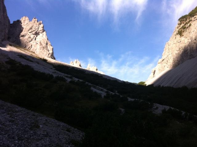 Die letzten Meter von der Hütte zur Gsengscharte