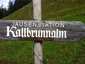 Wegweiser Kallbrunnalm
