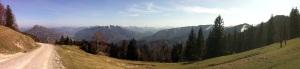 Panorama Abstieg Hohe Dirn