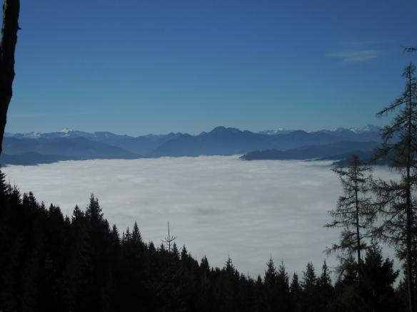 Unten im Salzachtal die Nebelsuppe