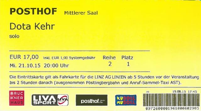 Dota Eintrittskarte